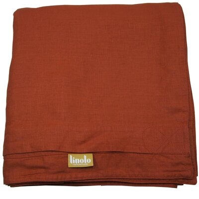 Linen Duvet Cover Size: King, Color: Terra Cotta