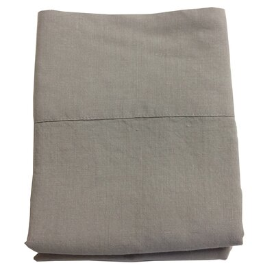 Linen Pillowcase Size: Standard/Queen, Color: Warm Gray