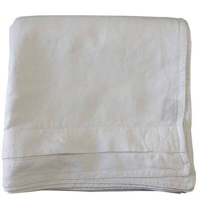 Linen Duvet Cover Color: White, Size: Twin