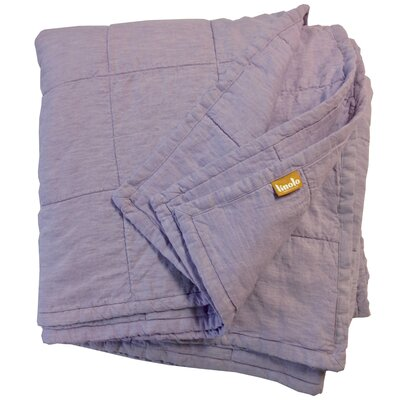 Quilted Linen Blanket Size: King, Color: Lavender