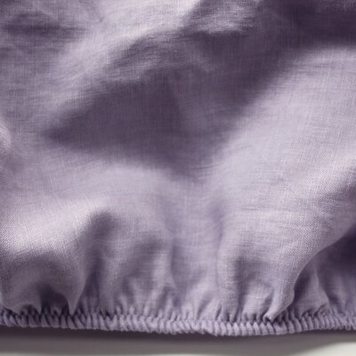 Linen Fitted Sheet Size: Queen, Color: Lavender