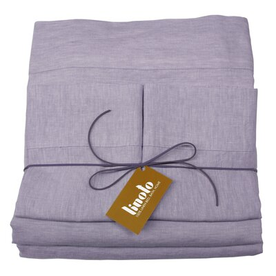 Linen Sheet Set Size: Full/Double, Color: Lavender