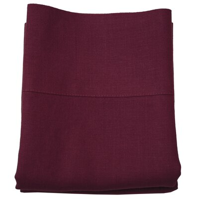 Linen Pillowcase Size: King, Color: Malbec