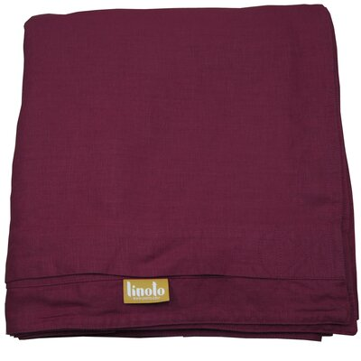 Linen Duvet Cover Size: King, Color: Malbec