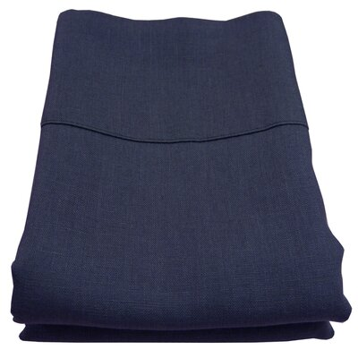 Linen Pillowcase Size: King, Color: Navy
