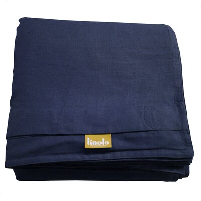 Linen Duvet Cover Color: Navy, Size: King
