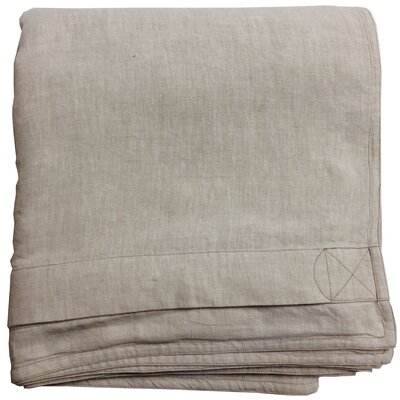 Linen Duvet Cover Color: Natural Oatmeal, Size: Twin