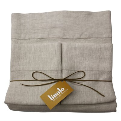 Linen Sheet Set Color: Natural Oatmeal, Size: Full/Double