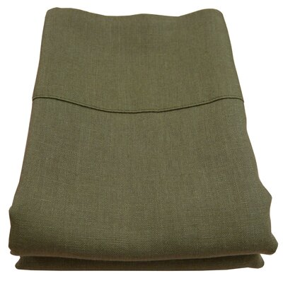 Linen Pillowcase Size: King, Color: Olive