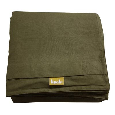 Linen Duvet Cover Size: King, Color: Olive
