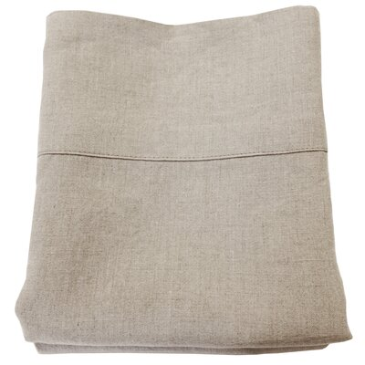 Belgian Eco-Linen Pillowcase Set Size: King, Color: Natural