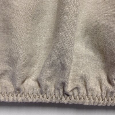 Belgian Eco-Linen Fitted Sheet Size: California King, Color: Natural