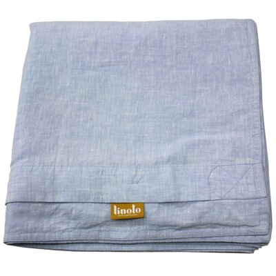 Linen Duvet Cover Size: Full/Queen, Color: Pale Blue