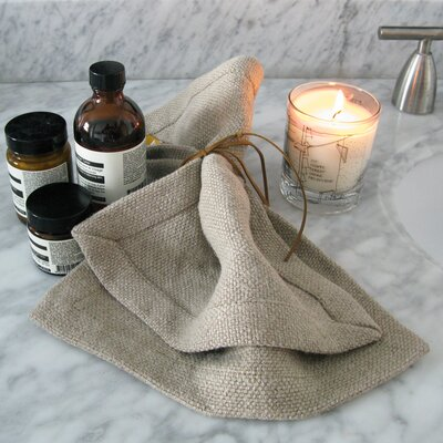 Linen Towel Wash Cloth Color: Oyster
