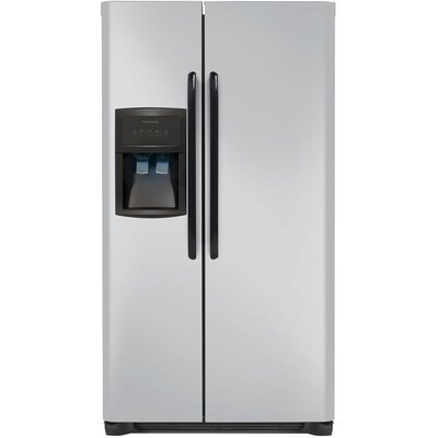 26 cu. ft. Side-by-Side Refrigerator Color: Silver Mist