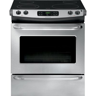 """30"""" Slide-in Electric Range Finish: Silver FFES3025PS-R"""