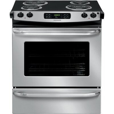 30' Slide-in Electric Range Finish: Silver FFES3015PS