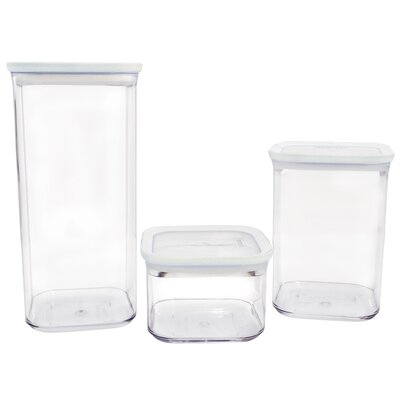 3 Piece Storage Kitchen Canister Set