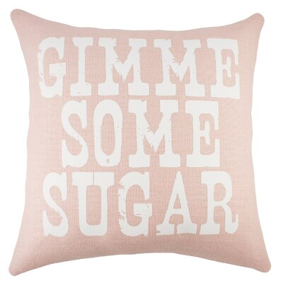Gimme Some Sugar Burlap Throw Pillow Color: Pink