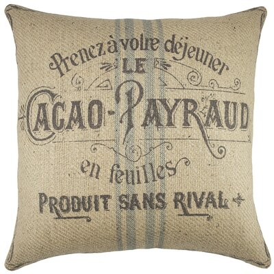 Kenora Cacao Payraud Burlap Throw Pillow
