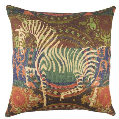 Zebra Burlap Throw Pillow