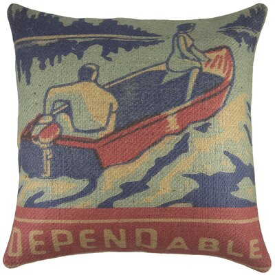 Dependable Boat Burlap Throw Pillow
