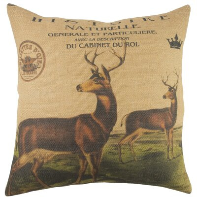 Herd Burlap Throw Pillow