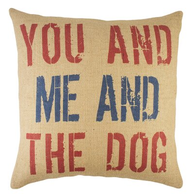 You and me and the Dog Burlap Throw Pillow