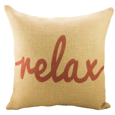 Relax Burlap Throw Pillow