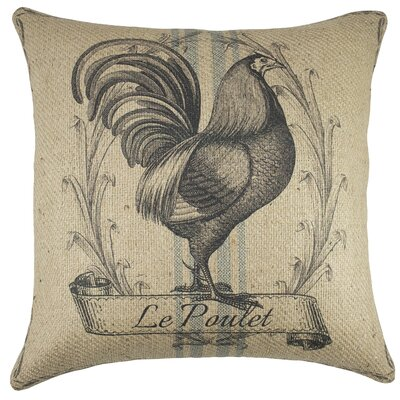 Chicken Burlap Throw Pillow
