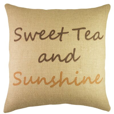 Sweet Tea and Sunshine Burlap Throw Pillow
