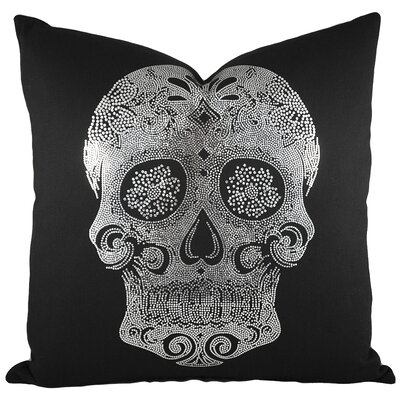 Sugar Skull Cotton Throw Pillow I