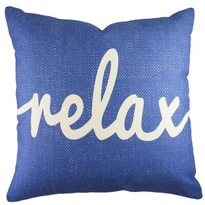 Relax Cotton Throw Pillow Color: Blue