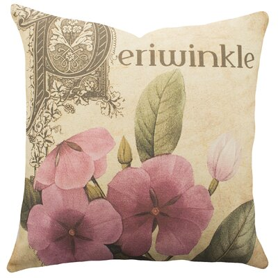 Periwinkle Cotton Throw Pillow