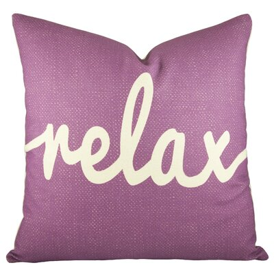 Relax Cotton Throw Pillow Color: Purple