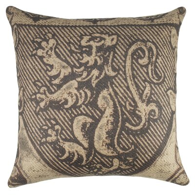 Scottish Crest Burlap Throw Pillow