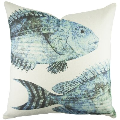 Fish Cotton Throw Pillow