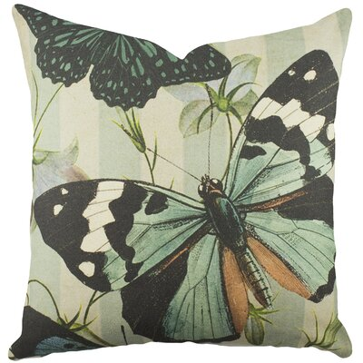 Butterfly Cotton Throw Pillow