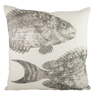 Swimming Fish Cotton Throw Pillow