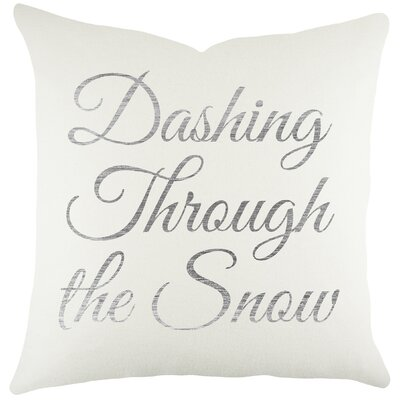 Dashing Through the Snow Cotton Throw Pillow