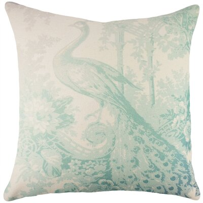 Peacock Cotton Throw Pillow