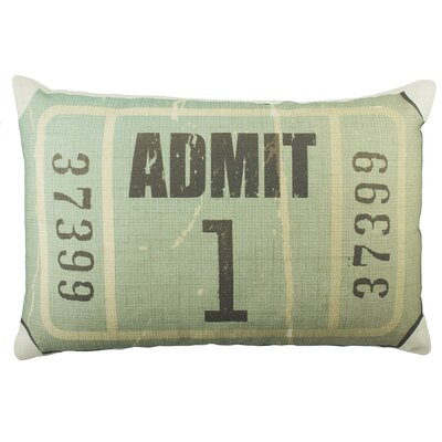 Admit 1 Cotton Throw Pillow