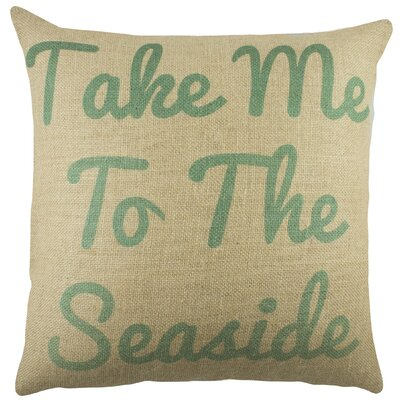 Take me to the Seaside Burlap Throw Pillow