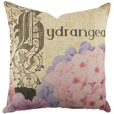 Hydrangea Cotton Throw Pillow