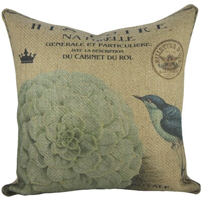 Hydrangea Burlap Throw Pillow
