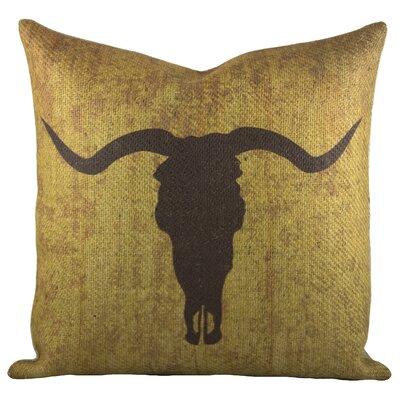Taurus Burlap Throw Pillow