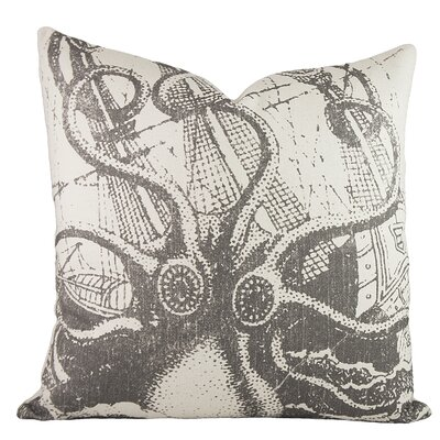 Octopus Cotton Throw Pillow Color: Gray