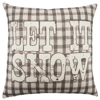 Let It Snow Plaid Cotton Throw Pillow
