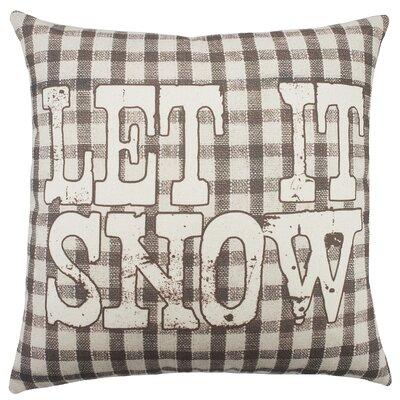 Let It Snow Plaid Cotton Throw Pillow