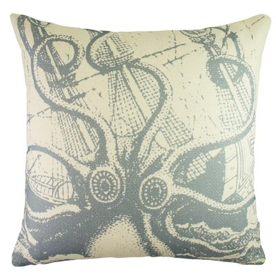 Octopus Cotton Throw Pillow Color: Blue